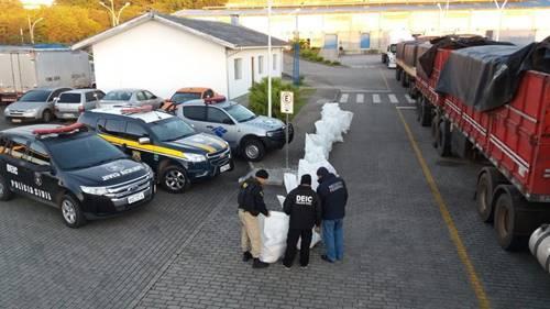 Polícia apreende em Garuva carga de maconha avaliada em R$1 milhão