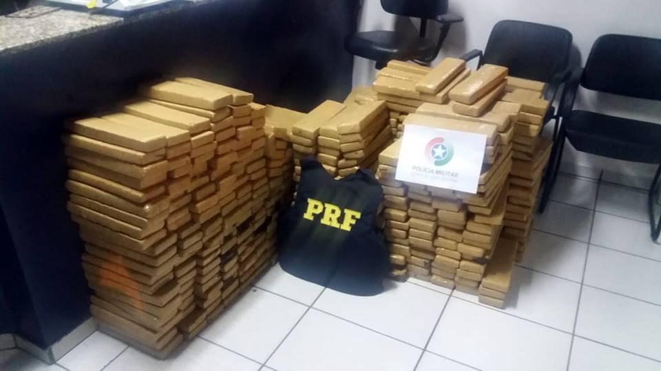 Polícia apreende aproximadamente 500 quilos de maconha em Garuva