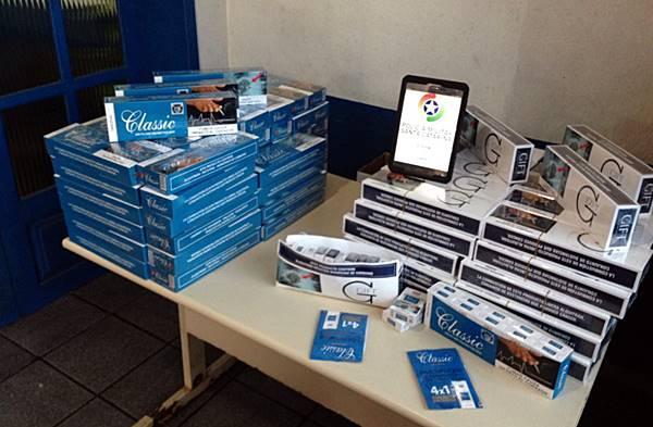 24/08/2018: PM de Garuva faz a segunda apreensão de cigarros contrabandeados do Paraguai