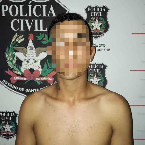 Polícia Civil de Itapoá prende suspeito de homicídio