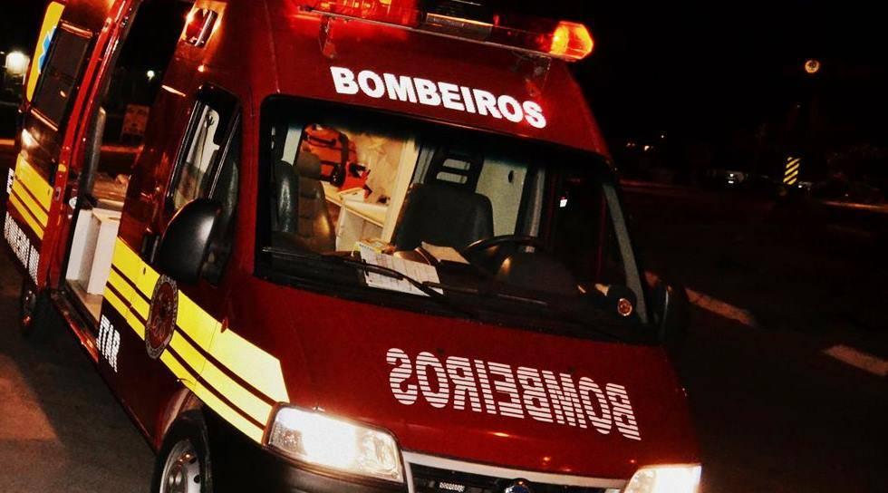 Bombeiros atendem ocorrência de queda de nível na localidade de Três Barras em Garuva