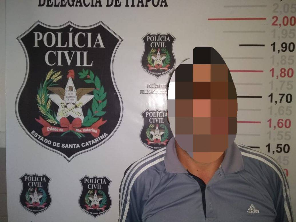 Autor de estupro é preso pela Polícia Civil de Itapoá