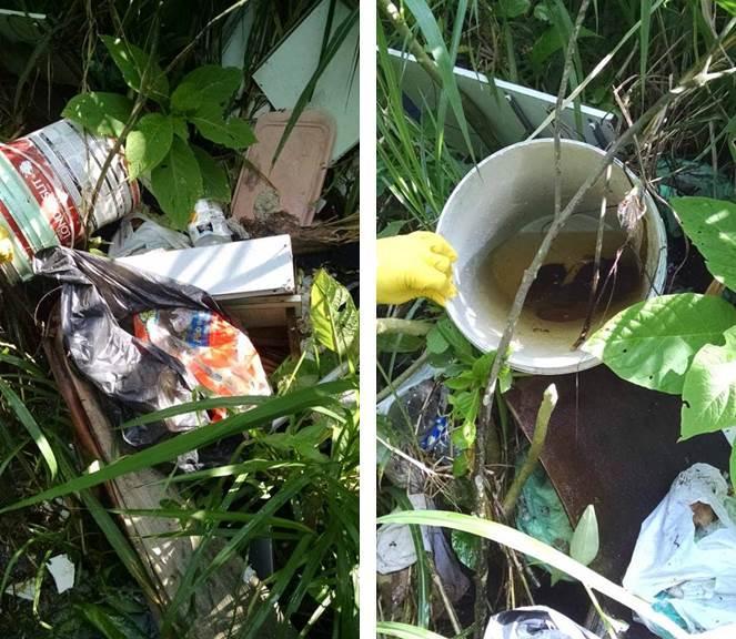 Lixo descartado em rios de Garuva coloca em risco o Meio Ambiente e população