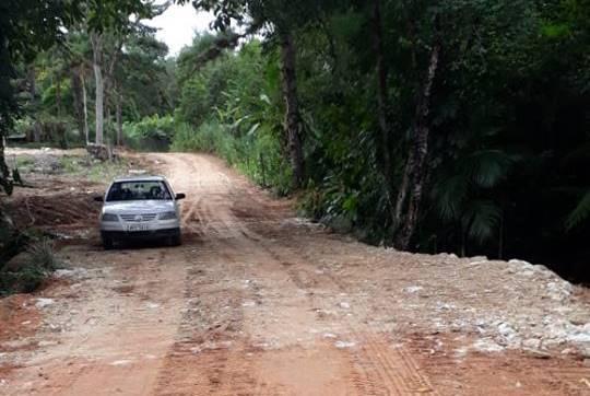 Ponte ganha alargamento na localidade de Bahararinhas
