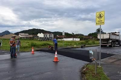 Iniciada construção de 10 passagens elevadas de pedestres no perímetro urbano de Garuva