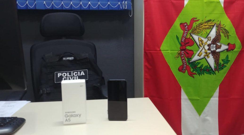 Polícia Civil de Garuva prende homem que furtou Smartphone avaliado em R$ 2.000,00