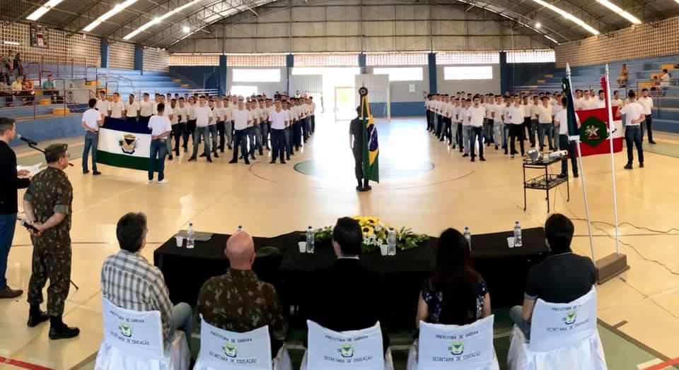 Solenidade de Juramento a Bandeira aconteceu nesta quarta-feira (09) em Garuva