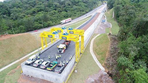 Simulado com testes em nova Área de Escape na BR 376 acontece a partir desta quarta-feira (11), em Guaratuba