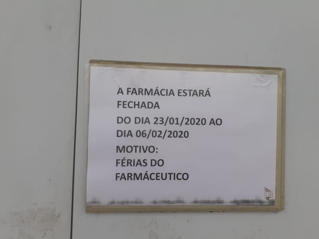 Fechamento temporário da Farmácia Municipal desagrada usuários em Garuva. Secretário antecipará reabertura.