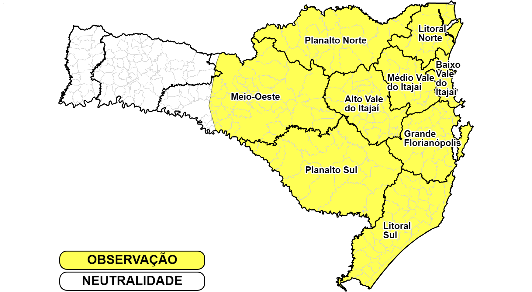 DEFESA CIVIL EMITE ALETA DE TEMPORAIS NESTA SEGUNDA-FEIRA (16). GARUVA ESTÁ NA ÁREA DE MAIOR RISCO