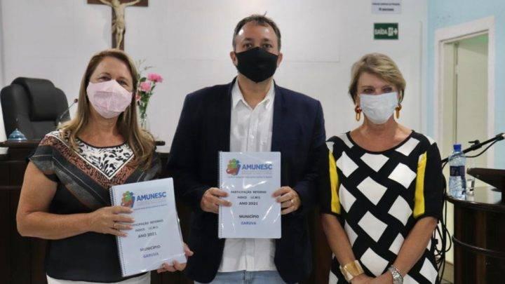 Amunesc presta contas dos serviços prestados para o município de Garuva.